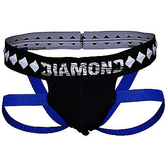 Diamond MMA 4-Strap Supporter Jock - Black/Blue