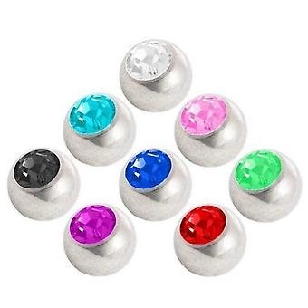 Piercing Replacement Ball Package, Body Jewellery, with Stone | 1,6 x 4, 5 and 6 mm
