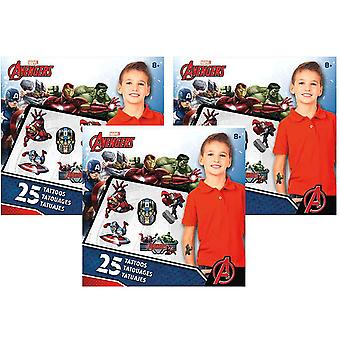 The Avengers samle Mini tatovering sæt [3 Pack]