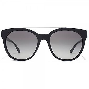 Giorgio Armani Metal Brow Sunglasses In Black