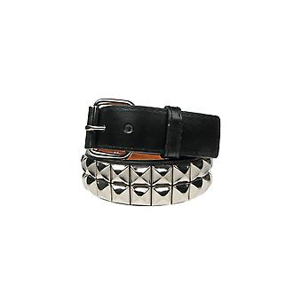 Bullet 69 2 Row Silver Pyramid Stud Belt