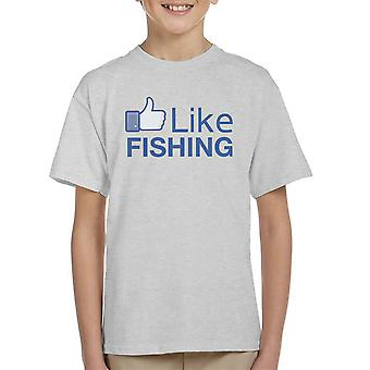 Net als de visserij Facebook Kid's T-Shirt