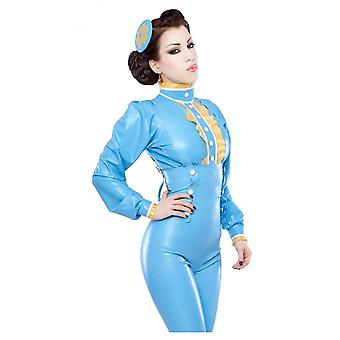 Westward Bound Dame Dainty Lust Latex Rubber Blouse