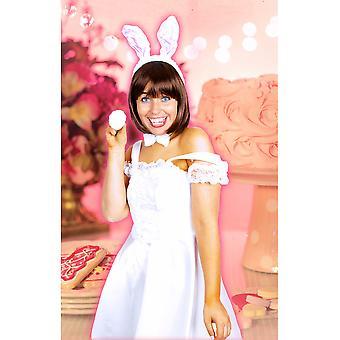 Adult  Bunny / rabbit set white rose