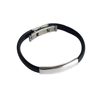 Unisex bracelet Bangle ladies mens unisex bracelet stainless steel and PU