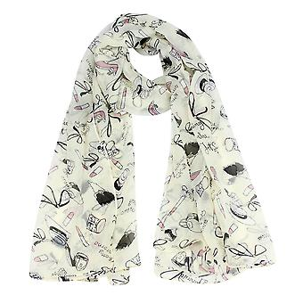 Boolavard® TM efterår nye mode kvinder sjal tørklæde læbestift højhælede sko design lange damer halstørklæder
