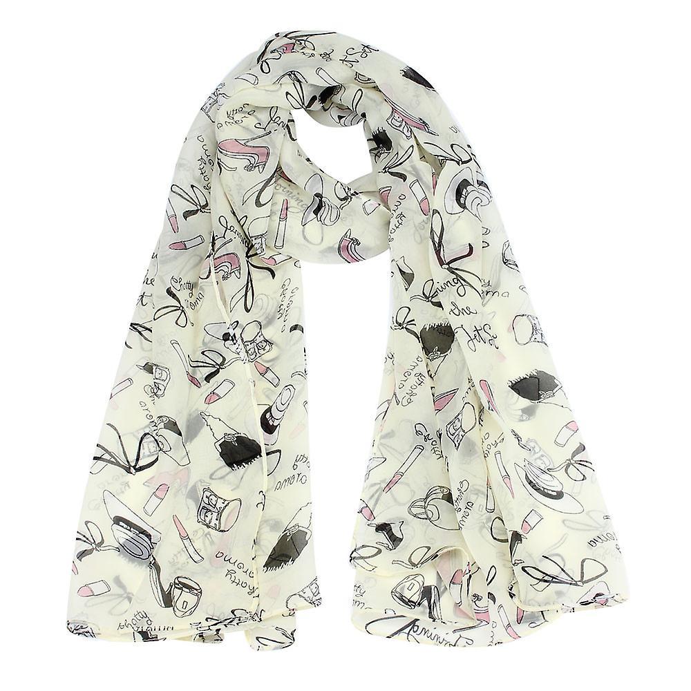 Boolavard® TM shawl Autumn new fashion women shawl TM scarf lipstick high-heeled shoes design long ladies scarves b5b0df