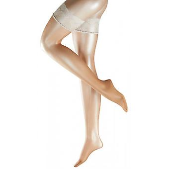 Falke Deluxe Matte 8 Denier Stay Up Stockings - Brasil/Champagne Gold