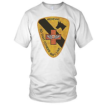 US Army 1st Cavalry Medevac So That Other May Live Grunge Effect - Vietnam War Mens T Shirt