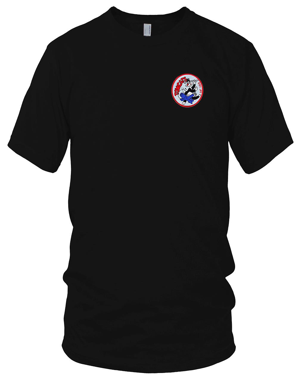 US Navy VF-100 Aviation Fighter Squadron WWII Embroidered Patch - Ladies T Shirt