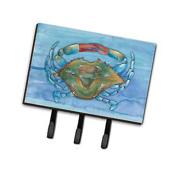 Carolines Schätze BB8527TH68 blaue Krabbe Leine oder Schlüsselhalter