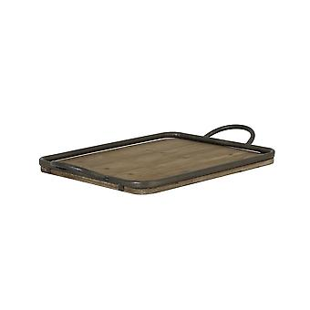Light & Living Tray 51,5x31 Cm MOULON Wood+zinc