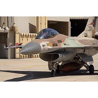 Eine F-16A-Netz von der israelischen Luftwaffe-Plakat-Druck von Ofer ZidonStocktrek Bilder