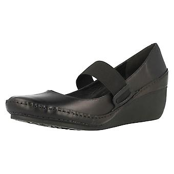 Mesdames Clarks Wedge talon Mary Jane chaussures Gentle Ocean