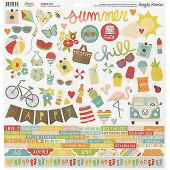 Summer Days Cardstock Stickers 12