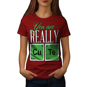 Cute Chemistry Geek Women RedT-shirt | Wellcoda