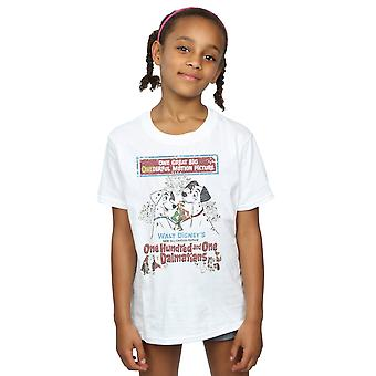 Disney Girls 101 Dalmatians Retro Poster T-Shirt