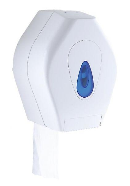Mini Jumbo Toilet Paper Dispenser | 8 | White Plastic