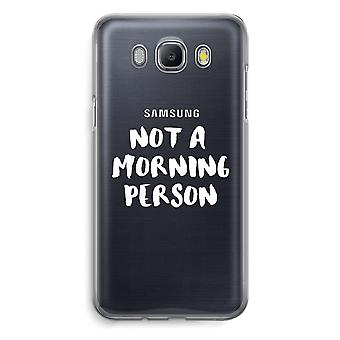Samsung Galaxy J5 (2016) Transparent Case - Morning person