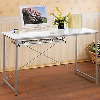 Tres - Office Desk / Computer Workstation With High Gloss Top - White / Grey