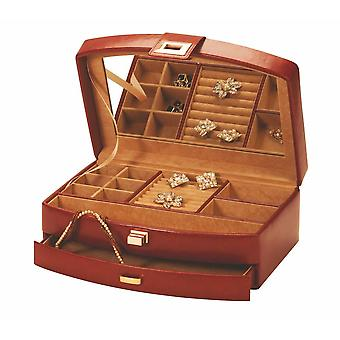 Leola Brown Leatherette Jewellery Box