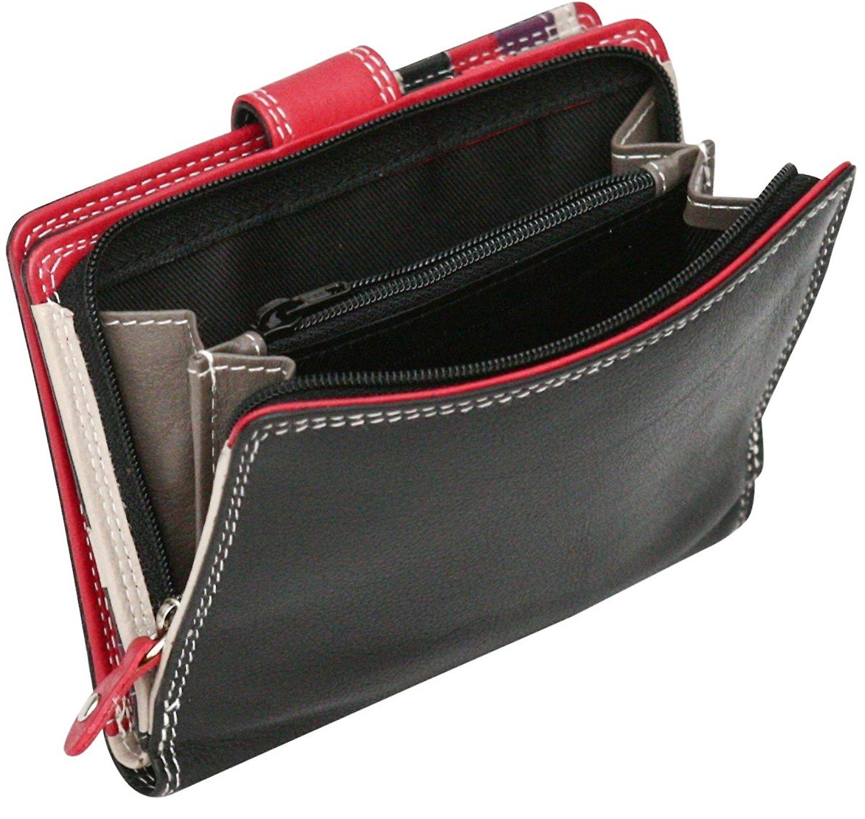 Felda RFID Genuine Leather Ladies Purse Wallet 9 Card Slots & Zipped Coin Section, Medium Size