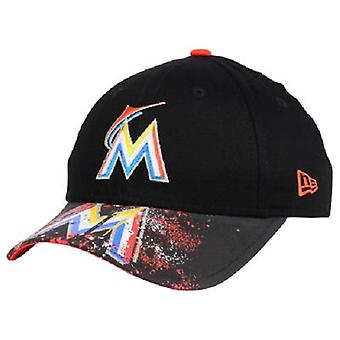 Miami Marlins MLB New Era 9Twenty Splatter Snapback Hat
