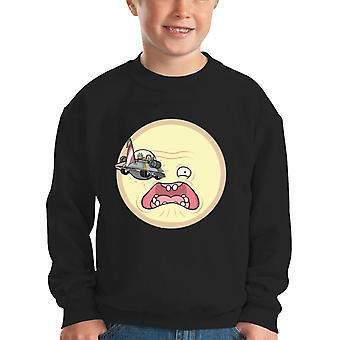 Rick And Morty A Trip To The Sun Kid's Sweatshirt