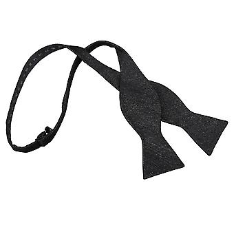 Charcoal Grey Ottoman Wool Thistle Self Tie Bow Tie