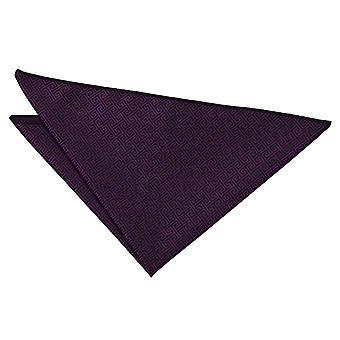 Cadbury Purple Greek Key Handkerchief / Pocket Square