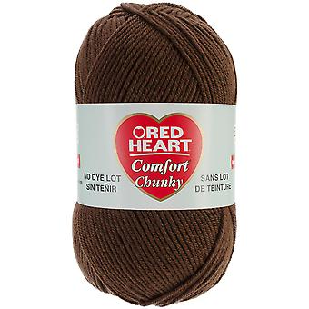 Red Heart Comfort Chunky Yarn-Fudge