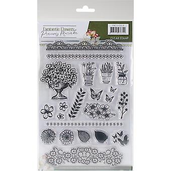 Find It Precious Marieke Fantastic Flowers Clear Stamps-