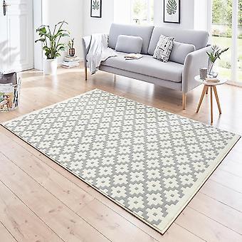 Enrejado de alfombra Diseño Terciopelo gris