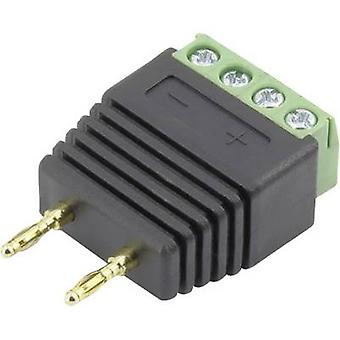 Conrad Components 93013c1127 Jack plug Plug, straight Pin diameter: 2 mm Black 1 pc(s)