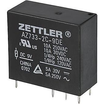 Zettler Electronics AZ733-2C-12DE PCB relays 12 Vdc 10 A 2 change-overs 1 pc(s)