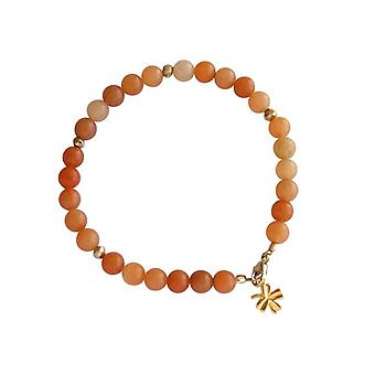 Aventurine bracelet Bangle gems orange Aventurine bracelet gold plated