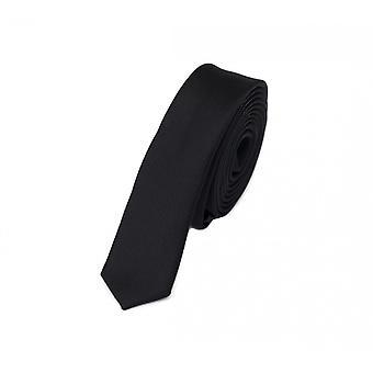 Cravatta cravatta cravatta 3cm di Nero uni Fabio Farini