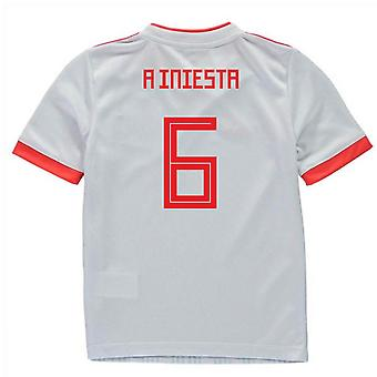 2018-2019 Spanien Away Kit Adidas Mini (ein Iniesta 6)