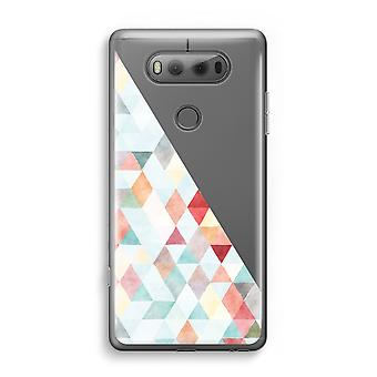 LG V20 Transparent Case - Coloured triangles pastel