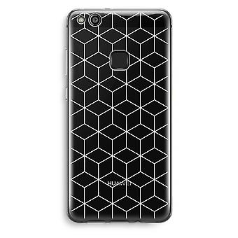 Huawei Ascend P10 Lite transparant Case (Soft) - kubussen zwart en wit