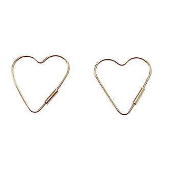 Ladies heart earrings 925 sterling silver 2 cm