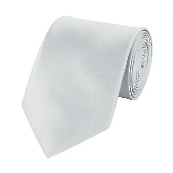 Schlips Krawatte Krawatten Binder 8cm grau von Fabio Farini