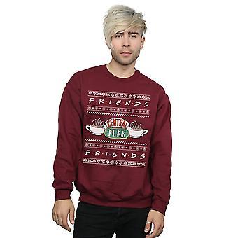 Friends Men's Fair Isle Cenral Perk Sweatshirt