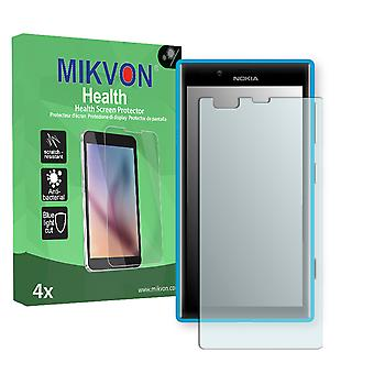 Nokia Lumia 720 Screen Protector - Mikvon Health (Retail Package with accessories) (intentionally smaller than the display due to its curved surface)