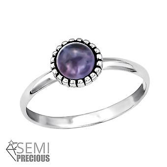 Round - 925 Sterling Silver Jewelled Rings - W30314X