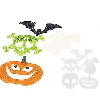 16 White Card Spooky Halloween Cut Outs to Decorate | Kids Monster Crafts