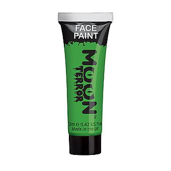 Moon Terror - Halloween Face Paint for the Face & Body - 12ml - Create spooky face paint designs! Perfect for vampire, ghost, skeleton, witch, pumpkin, monster etc - Zombie Green