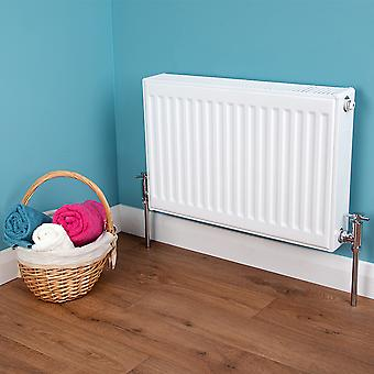 DOUBLE PANEL Type 22 Compact Heating Convector Radiator SIZE: (H)600 x (W)500mm