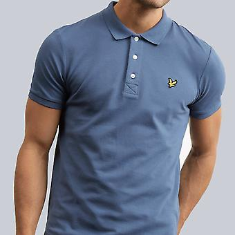 Lyle & Scott Plain Polo Shirt Indigo Blue