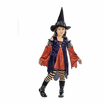 Pumpkin witch girls costume witch Halloween child costume